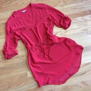 Naked Zebra red shirt dress or tunic